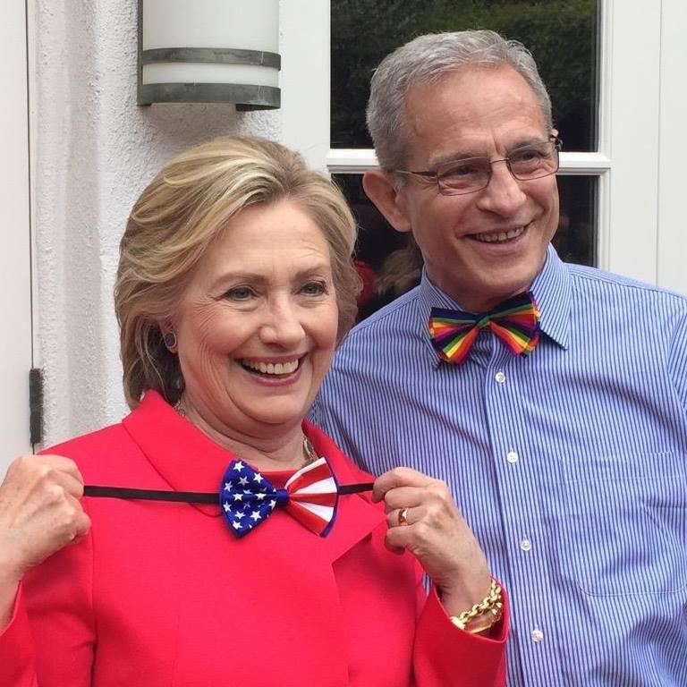 Ed Buck with Hillary Clinton. Photo: Ed Buck/Facebook