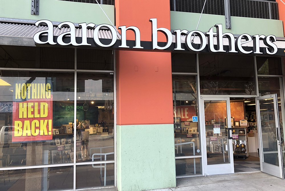 Everything Must Go at WeHo Aaron Brothers Frame Store Closing Sale ...